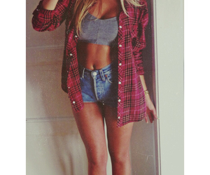 fashion, body, and flannel image