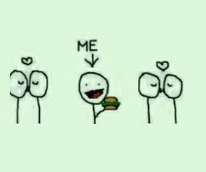 love, me, and food image