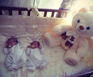 adorable, teddy bear, and twins image