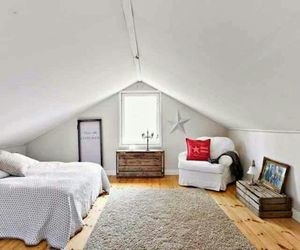 attic, bed, and bedroom image