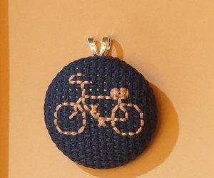 bicycle, bike, and cross stitch image