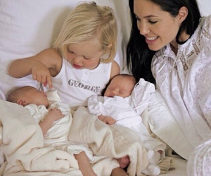 Angelina Jolie, baby, and family image