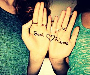 best friends, forever, and heart image