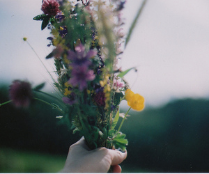 flowers, hipster, and vintage image