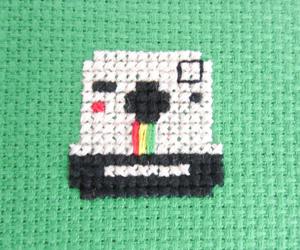 camera, craft, and cross stitch image