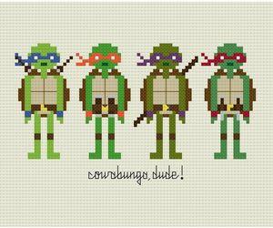 pattern, cross stitch, and geek image