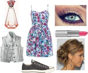 converse, dresses, and hairstyle image