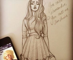 draw, girl, and ldr image
