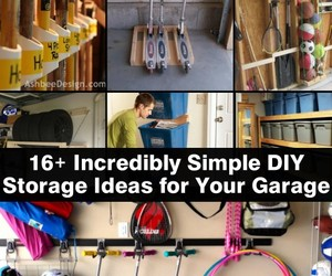 diy, tutorial, and garage storage ideas image