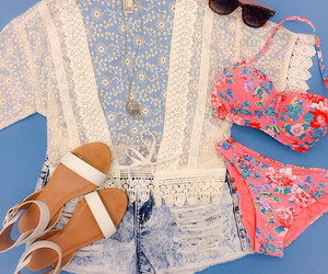 summer, bikini, and outfit image