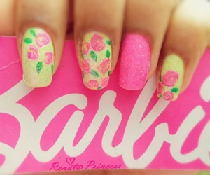 barbie, pink, and nails image
