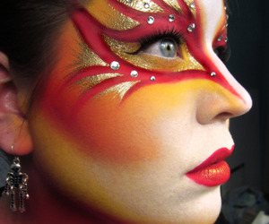 makeup, red, and art image