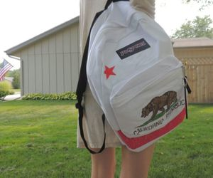 california republic, backpack, and white image