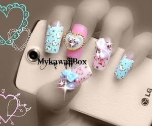 girly, kawaii, and nails image