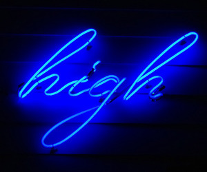 high, blue, and light image