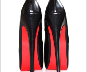 christian louboutin, heels, and high heels image