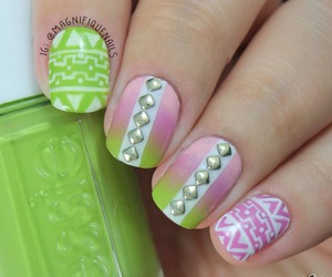 cool, nail polish, and fashion image