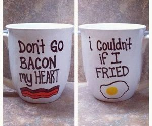 bacon, funny, and mug image