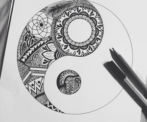 art, yinyang, and beauty image