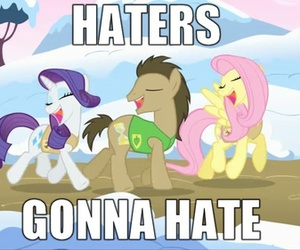 lol, my little pony, and haters gonna hate image
