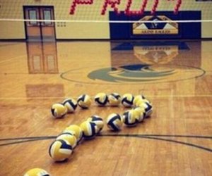 Prom, volleyball, and promposal image