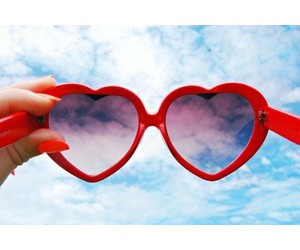 glasses, heart, and nails image