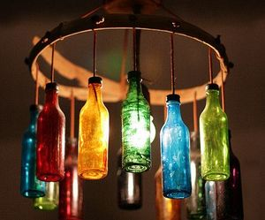 bottle, light, and colors image