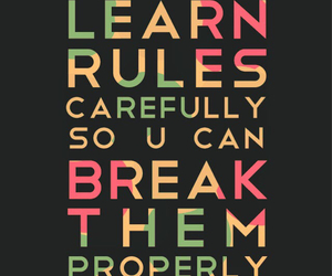 rules, quote, and break image