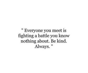 quote, be kind, and true image