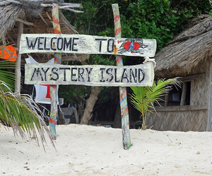 beach, Island, and welcome image
