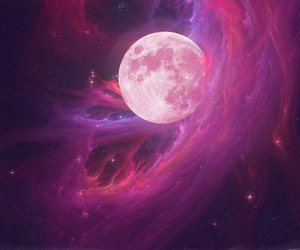 moon and pink image