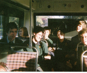 boy, bus, and friends image