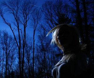 blond, girl, and silhouette image