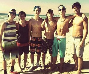 beach, taylor caniff, and hayes grier image