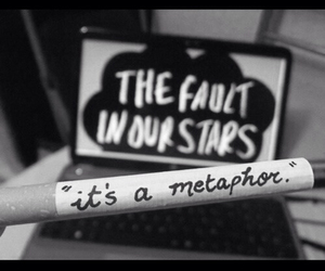 augustus waters, metaphor, and the fault in our stars image
