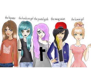 hipster, swag asian, and pastel goth image