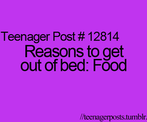 food, bed, and reason image