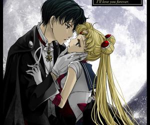 sailor moon, usagi tsukino, and mamoru chiba image