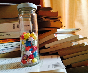 books, stars, and origamis image