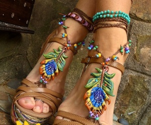 colors, hippy, and hippie image