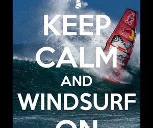 calm and windsurfing image