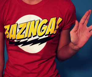bazinga, the big bang theory, and t-shirt image