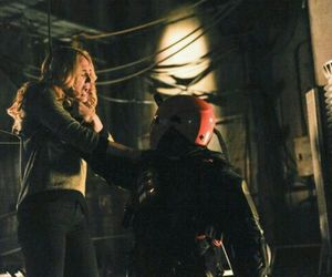 arrow, deathstroke, and caity lotz image