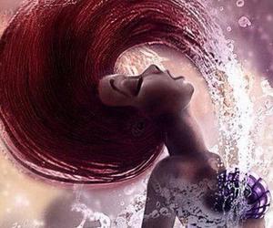 ariel, mermaid, and hair image