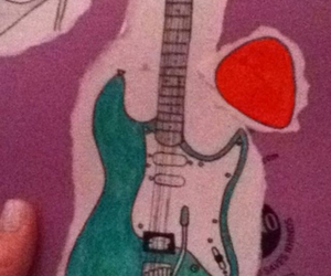 classic, drawings, and guitar image