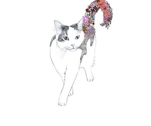 art, kitty, and cats image