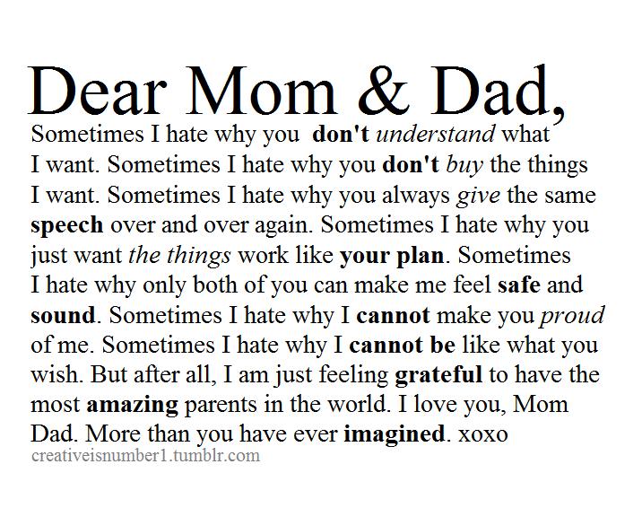 Love My Parents Quotes Tumblr