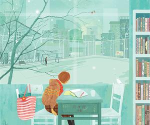illustration, art, and winter image