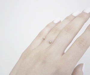 piercing, nails, and hand image