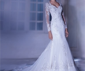 bridal gown, wedding dress, and wedding gown image